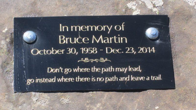Memorial Plaque at Rock Lake, Willmore Natural Areas