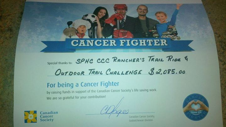Canadian Cancer Society Money Raised in Bruces Honor